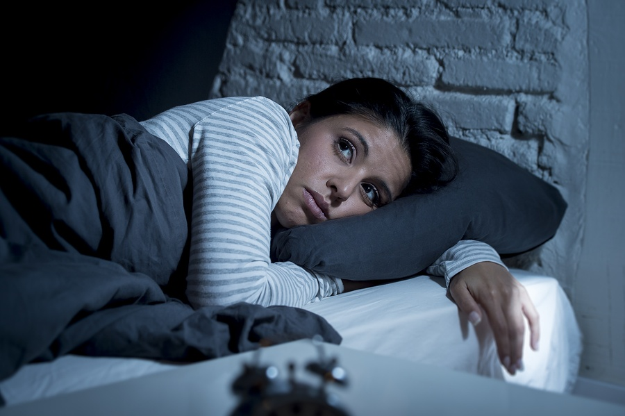 person experiencing insomnia