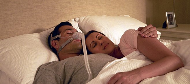 bed partners sleeping during summer with cpap machine